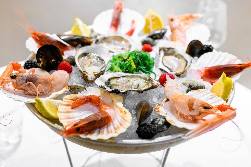L'officina del pesce, piatto di crudo