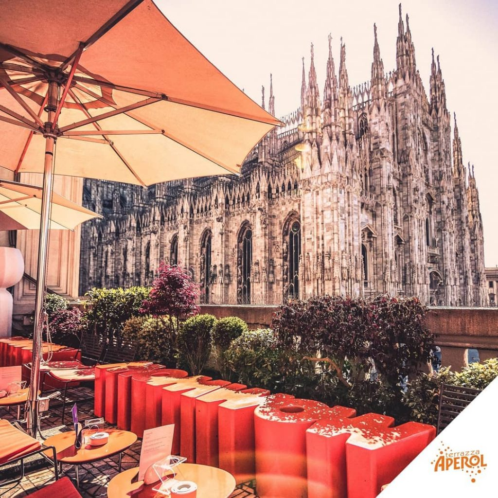 Terrazza Aperol vista Duomo di Milano