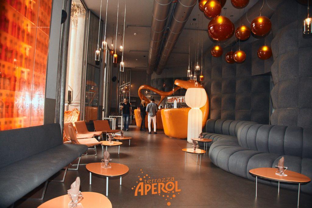 Terrazza Aperol Milano interni di design